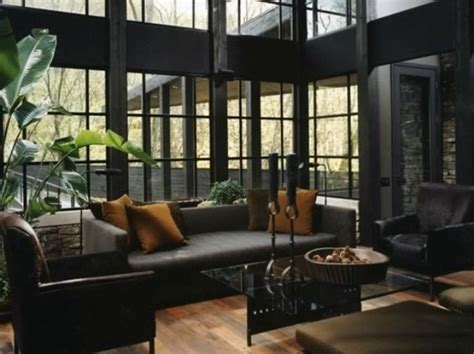 nice Living Room With High Ceiling Designs #1: stylish-dark-living-room-designs-18.jpg