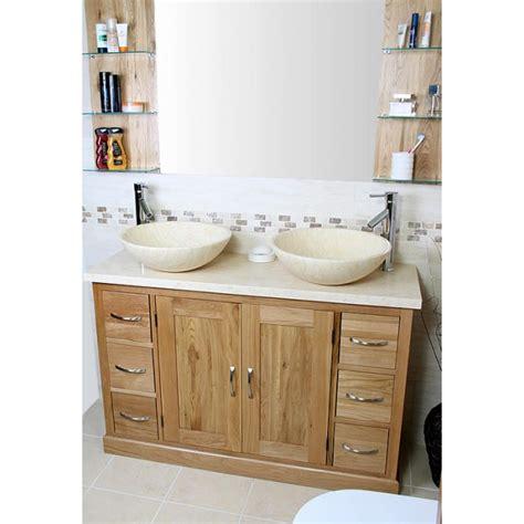 Solid Oak Vanity Units For Bathrooms by Atla Solid Oak And Marble Bathroom Vanity Unit Click Oak
