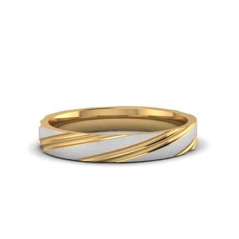mens  tone wedding band   yellow gold fascinating