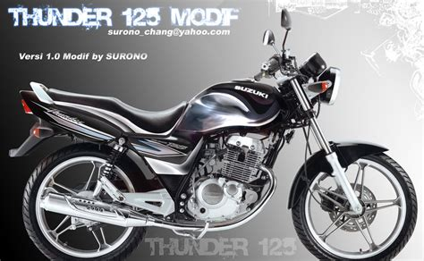 Striping Suzuki Thunder 2005 suzuki thunder 125 compatible parts