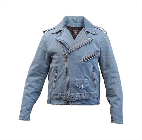 denim motorcycle jacket denim biker jacket coat nj