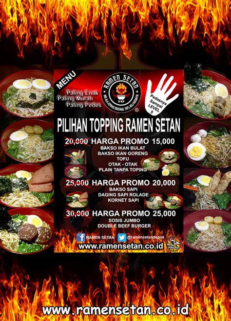 Franchise Ramen franchise ramen setan peluang bisnis ramen makanan waralaba ku