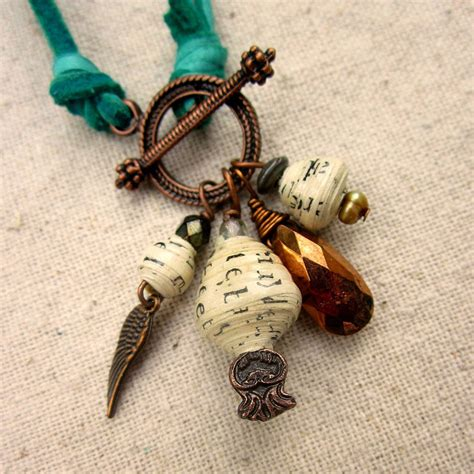 paper bead bracelets for sale convertible necklace aqua green suede cord necklace and