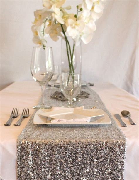 silver glitter table runner 25 best ideas about sequin tablecloth on