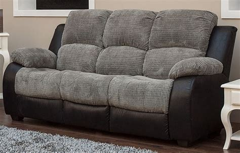 Credit On Sofas Milton 3 Seater Reclining Fabric Sofa Charcoal