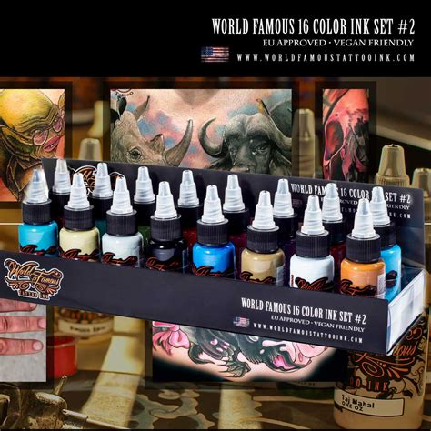 tattoo ink sets uk world famous tattoo ink