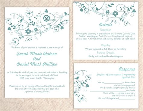 printable wedding invitation suites printable wedding invitation suite printable invitation