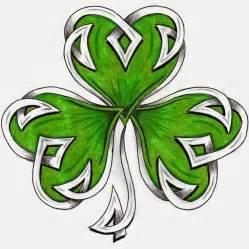 pretty celtic shamrock leaf tattoo stencil by hdevers