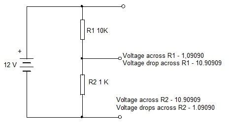 voltage drop across a 1 ohm resistor ohms and voltage drop simple design 3 electronics hobby