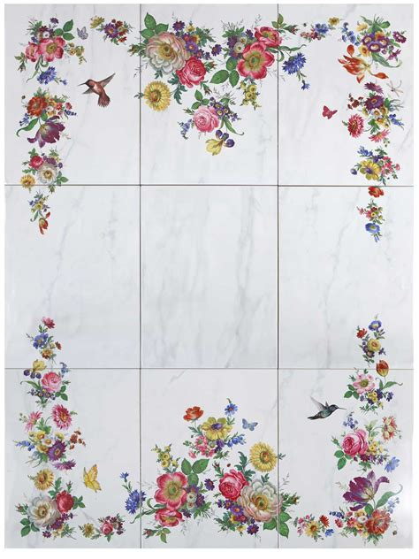 fliese floral bathroom tiles floral interior design