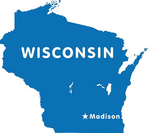 State Of Wisconsin Records Wisconsin Map Blank Political Wisconsin Map With Cities