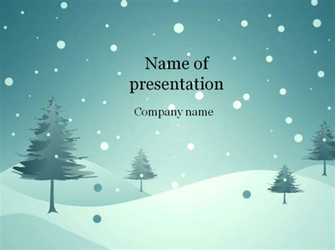 Download Free Blue Winter Powerpoint Template For Presentation Free Winter Powerpoint Backgrounds