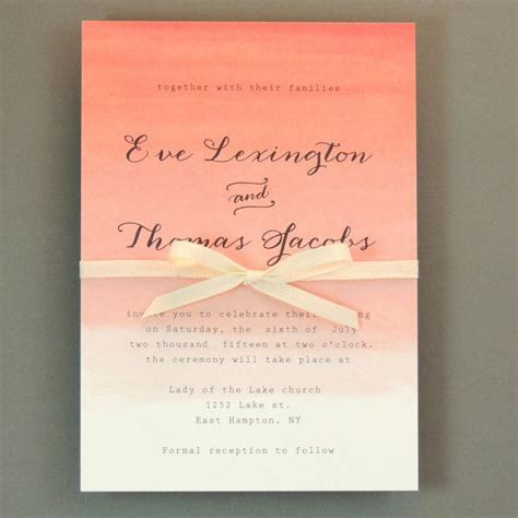 25 best ideas about coral wedding invitations on coral invitations wedding