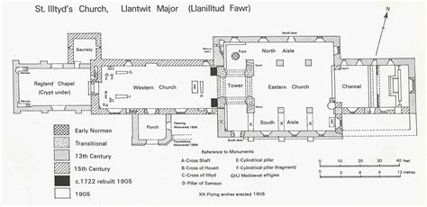 floor plan of a church the church llanilltud