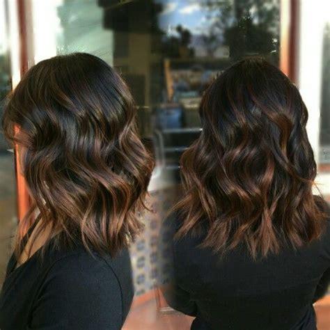 balayage lob caramel balayage lob daniellelouisette hairstyle