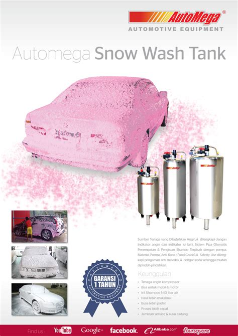 Tabung Snow Wash Stainless tabung salju 20 lt stainless 304 automega automotive