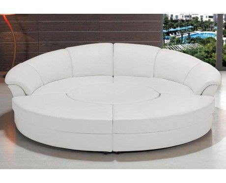 White Leather Circular Sectional by The World S Catalog Of Ideas