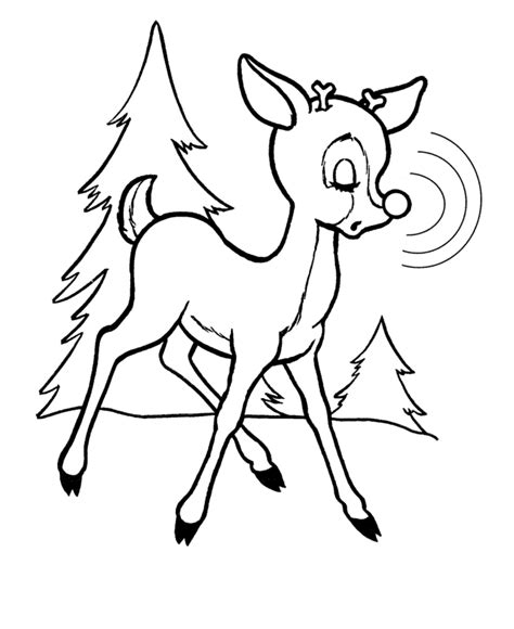 coloring pages deer rudolf free printable rudolph coloring pages for kids
