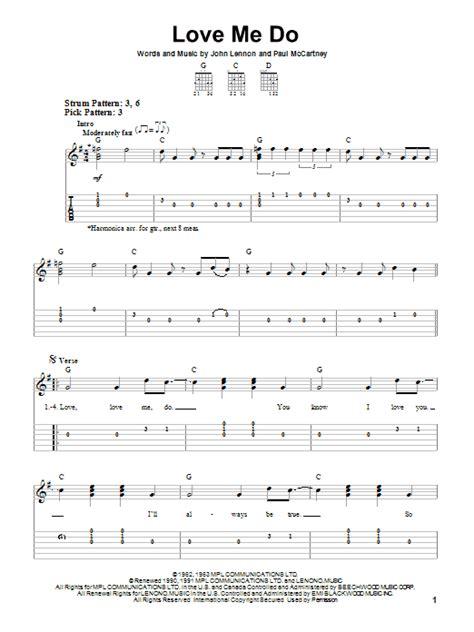 love me do love me do sheet music direct