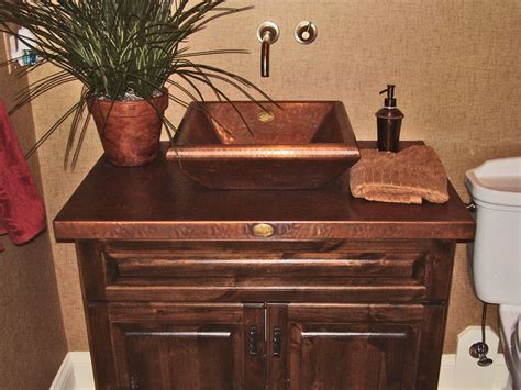 Copper Bathroom Sinks Copper Spun Custom Vanity Copper Bathroom Vanity With Copper Sink