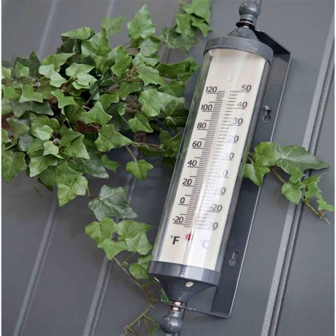 Garden Trading Large Wall Mounted Tube Thermometer Garden Wall Thermometer