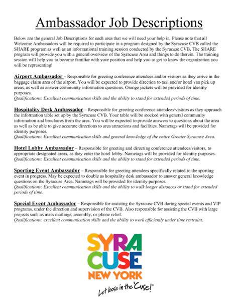 Brand Representative Cover Letter by Brand Ambassador Resume Sle Sle Resumes Sle Resumes Sle Resume
