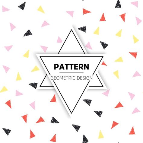 triangle pattern ai download colorful hand drawn triangle pattern vector free download