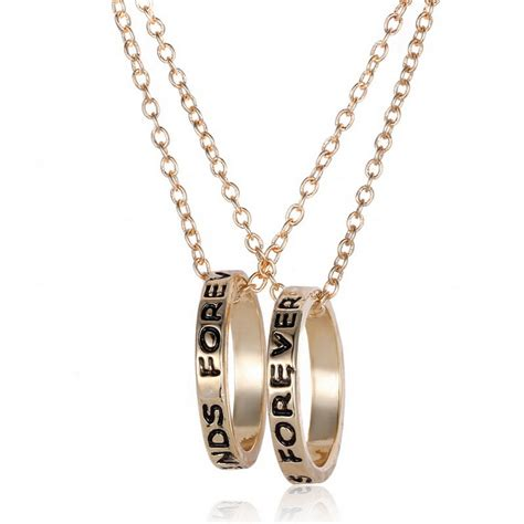 sale best friends forever pendant necklace letter