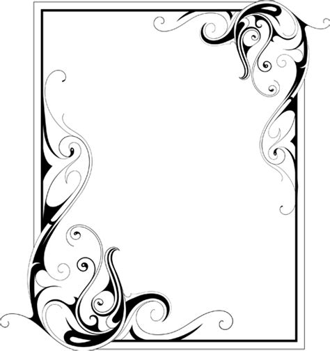 ornaments frames simple ornament frame vector material 02 ramki