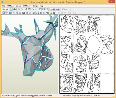 Create Faceted Papercraft Objects 17 Steps With Pictures Free Papercraft Templates Pdf