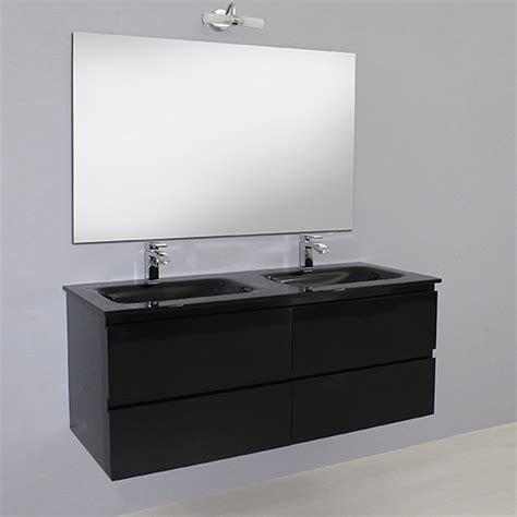 mobile bagno nero arredo bagno black mobile moderno doppio lavabo br