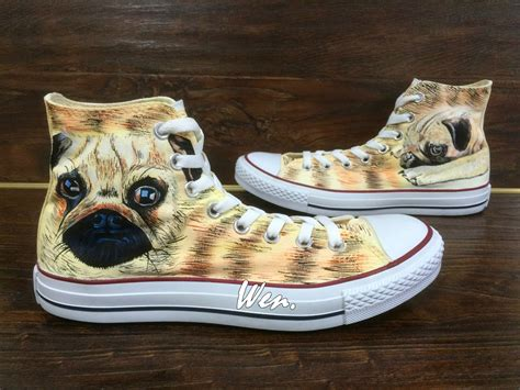 shoes for pugs wen original design pug converse custom pug shoes by wenwenstudio