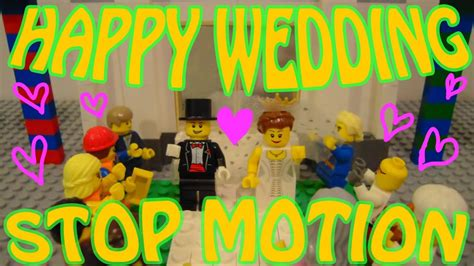 Wedding Stop Motion Animation by Lego ストップモーション アニメ 結婚式 オープニングムービー Stop Motion Animation