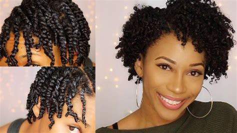 two strand twist out short natural hair twa youtube