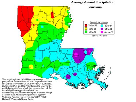 louisiana map climate change index of historical prism precipitaion maps
