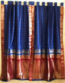 sari drapes sari curtains sari fabric curtains indian saree curtains