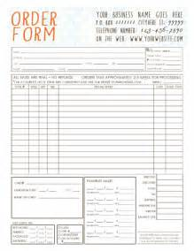 Trade Show Order Form Template by General Photography Order Form Template By Infinitydesigns2007
