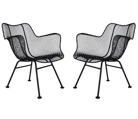 mid century outdoor lounge chairs mid century modern pair of sculptural patio wire lounge