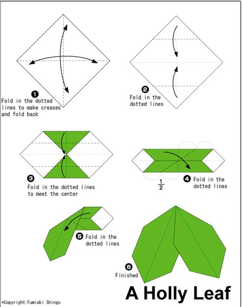 Simple Origami Leaf - leaf easy origami for