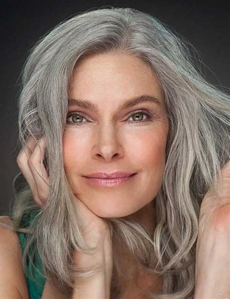 gray hair for 50 year old women 27 long hairstyles for older women long hairstyles 2016