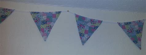 Patchwork Bunting - cotton vintage pastel patchwork bunting 4 metres approx