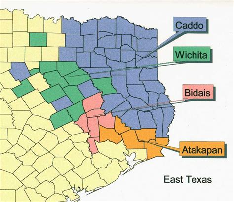 map of texas indian tribes east texas indian land
