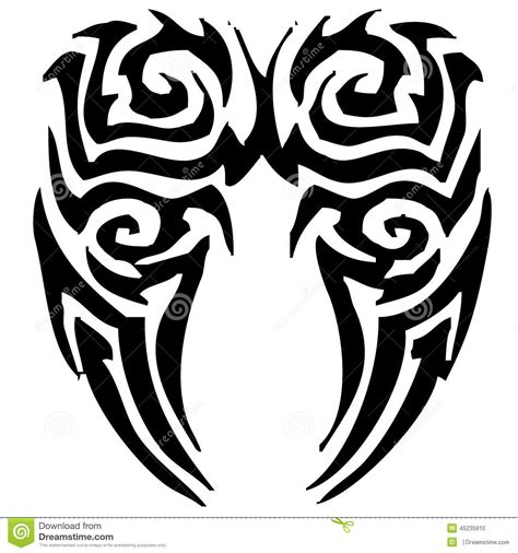 wing tribal tattoos black tribal wings stencil