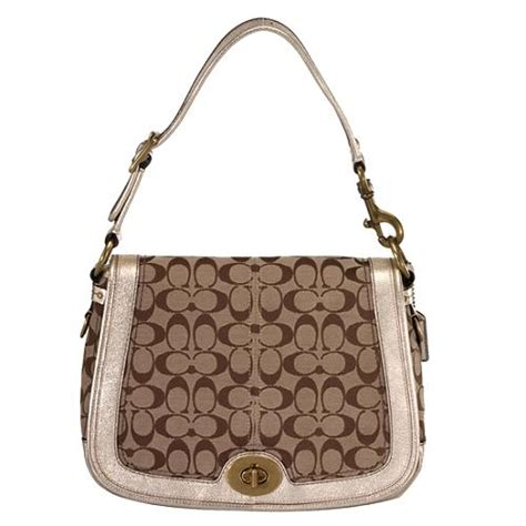 Coach Legacy Signature Cotton Slim Flap by Coach Legacy Signature Flap Shoulder Handbag