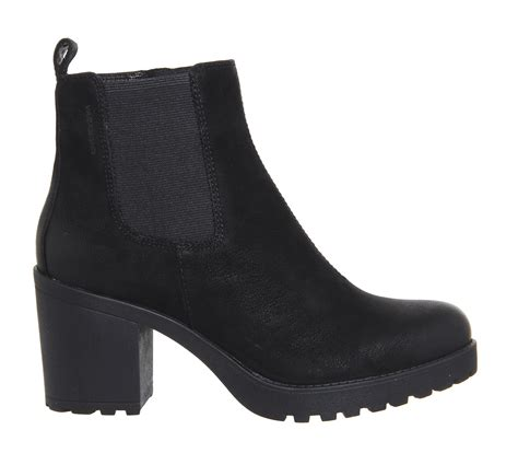 vagabond grace heeled chelsea boots in black lyst