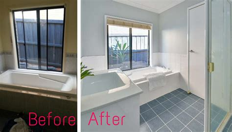 white bathroom tile paint my experience renovating with tile paint gee you re brave