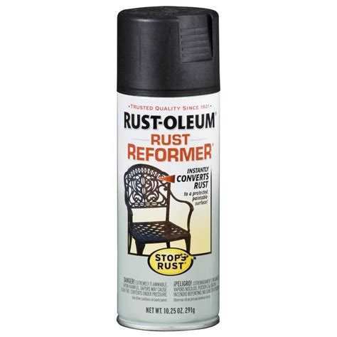 shop rust oleum 10 5 oz black flat spray paint at lowes