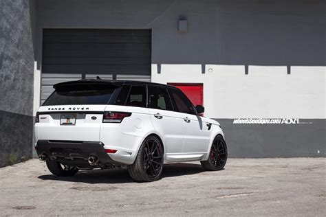 white land rover black rims range rover sport adv5 2 m v1 sl gloss black wheels