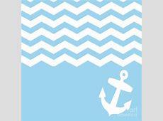 Blue and White Chevron Wallpaper - WallpaperSafari Light Blue Anchor Wallpaper