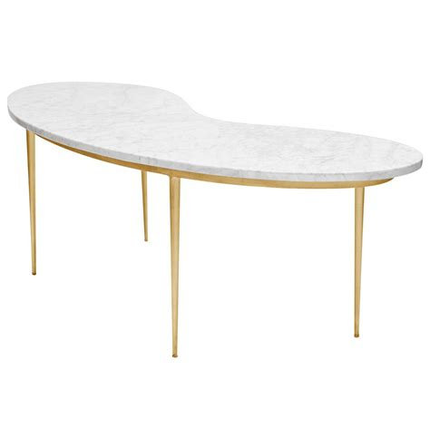 white and gold table morgan hollywood regency gold white marble coffee table